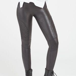 Like New Spank Faux Leather Moto Leggings
